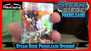 Pokemon Cards XY STEAM SIEGE PRERELEASE Pack Opening by ThePokeCapital