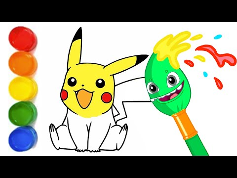 Learn Magic Colors and Numbers with Pikachu! Groovy The Martian educational cartoons for children
