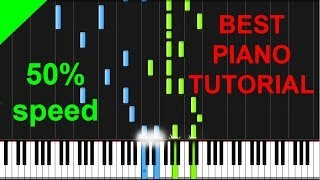 Bon Iver - I Can't Make You Love Me 50% speed piano tutorial