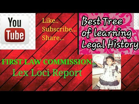 First Law Commission..Lex Loci Report