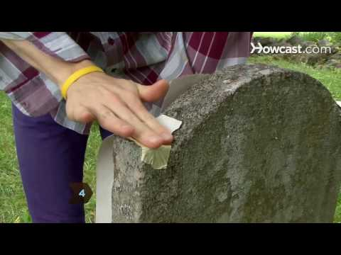 How to Make a Grave Rubbing