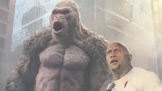 ロック様とホワイトコングの最強タッグでも怯む巨獣が登場/映画『ランペイジ 巨獣大乱闘』特別映像2