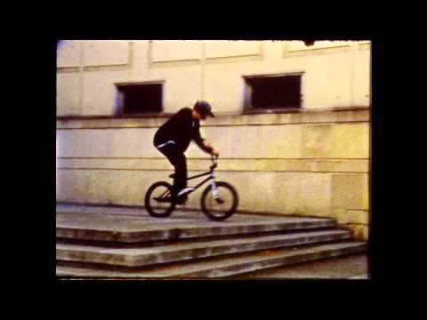 BMX street riding on 8mm film