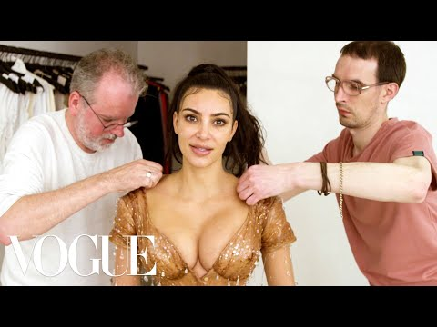 Kim Kardashian West Gets Fitted for Her Waist-Snatching Met Gala Look | Vogue