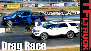 2016 Ford F-150 vs Explorer: Truck vs. SUV Twin Turbo Mashup Review by The Fast Lane Truck