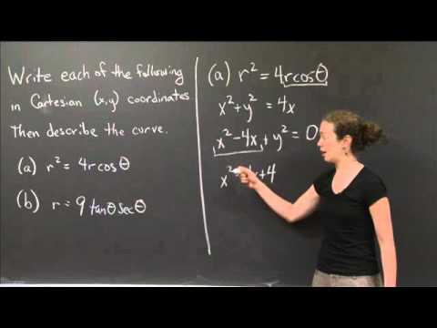 Polar to Cartesian | MIT 18.01SC Single Variable Calculus, Fall 2010