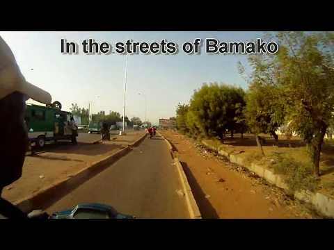 bamako - Motorcycle taxi in the streets of Bamako, Mali.