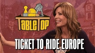 Ticket to Ride Europe: Anne Wheaton, Emma Caulfield, and John Kovalic join Wil on TableTop SE2E19
