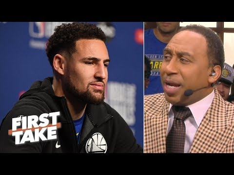 Warriors will 'smoke' Raptors in Game 3, Klay Thompson key to NBA Finals - Stephen A. | First Take