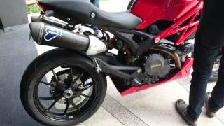 Monster 796 and Termignoni carbon slip on sound