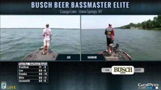 KVD fishing live on Championship Sunday Cayuga Lake 2016 pt. 3