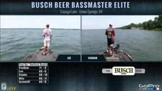 KVD fishing live on Championship Sunday Cayuga Lake 2016 pt. 3