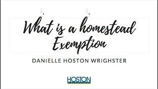 Ever heard of a Homestead Exemption?
