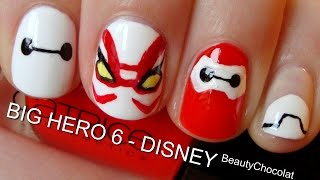 BIG HERO 6 Trailer Inspired Nails!♥ Short&Long Disney Nails