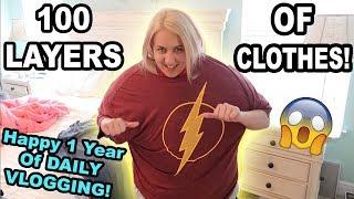 Video 100 LAYERS OF CLOTHES CHALLENGE!!! MP3, 3GP, MP4, WEBM, AVI, FLV Juni 2018