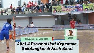 Atlet Empat Provinsi Ikut Kejuaraan Bulutangkis di Aceh Barat