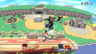 Two Falcon Punchs at same time by Ryu and Ganondorf