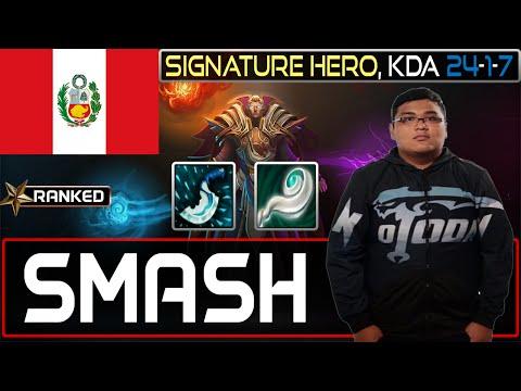 NoT Smash plays Invoker [Signature Hero, KDA 24-1-7] Dota 2 [Ranked]