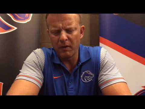 Boise State football coach Bryan Harsin at Mountain West media days, part 1 (видео)