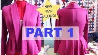 Video Sew Along: M6844 Part 1 - DIY Peplum Cardigan MP3, 3GP, MP4, WEBM, AVI, FLV Juli 2018