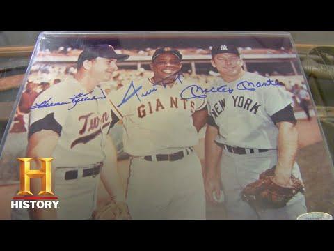 Pawn Stars: Signed Pic of MLB All Stars Mays, Mantle, & Killebrew (Season 5) | History