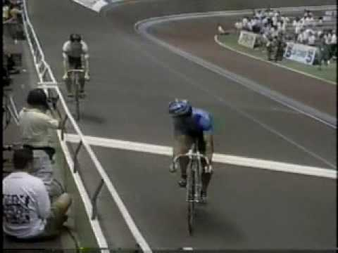In match sprint races, cyclists try to bike as slowly as possible to force their opponent to go in front - It's a crazy sport that sometimes remembers of a Monty Python Sketch. If you haven't seen a match sprint before, watch this.