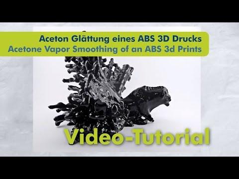Aceton  Glättung ABS 3D Druck - Acetone Vapor Smoothing ABS Print