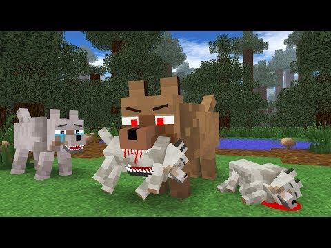Wolf Life III - Minecraft Animation (видео)