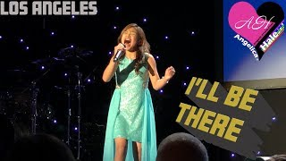 """Video Angelica Hale Sings """"I'll Be There"""" for Paul Mitchell Schools Funraising 2018 - Beverly Hills, CA MP3, 3GP, MP4, WEBM, AVI, FLV Maret 2019"""