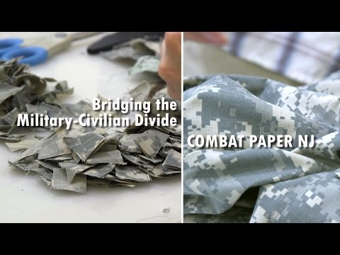 Veterans and Civilians Bridge the Divide Through Papermaking