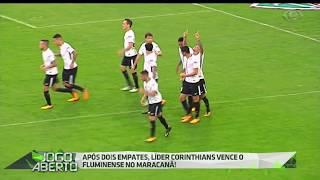 Em jogo eletrizante, o Corinthians venceu o Fluminense na tarde de ontem (23) no Maracanã com gol de cabeça do zagueiro paraguaio Balbuena e se mantém líder isolado do Brasileirão 2017.