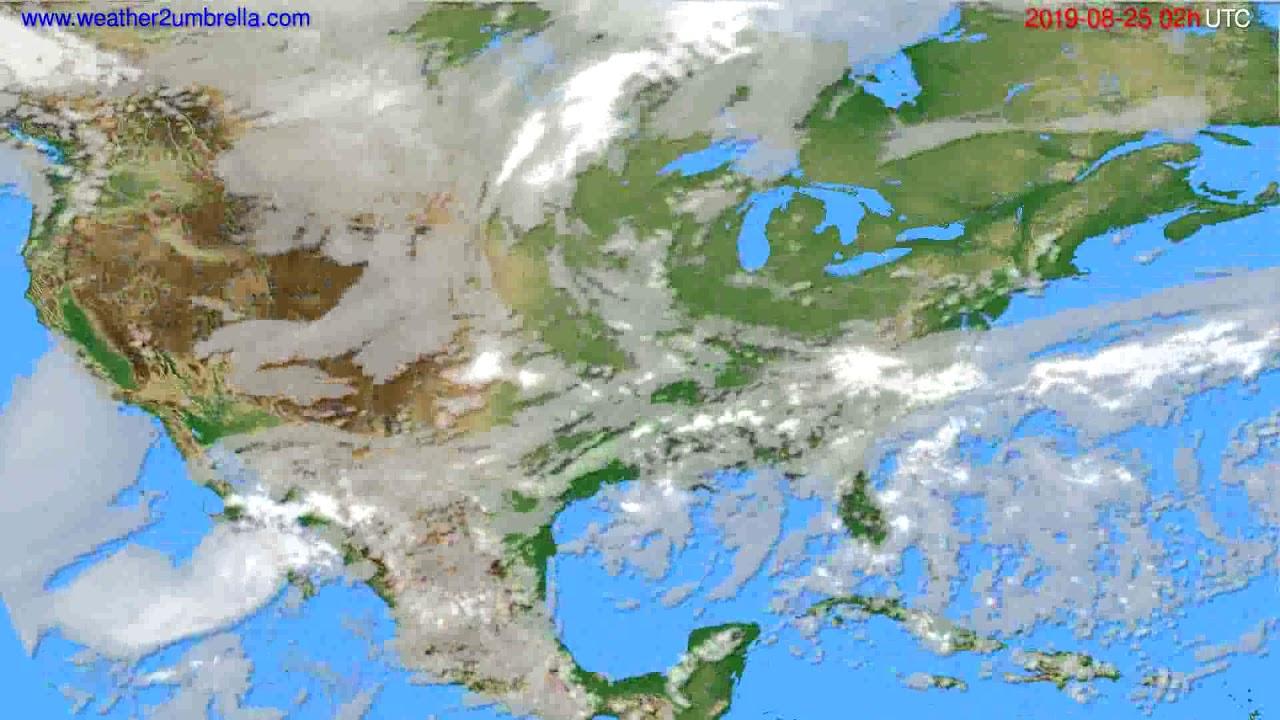 Cloud forecast USA & Canada // modelrun: 12h UTC 2019-08-22
