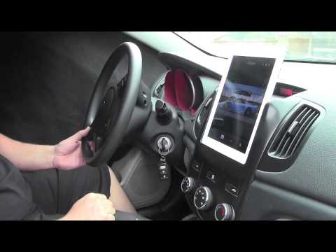 iPad Slidedock dash mount in a Kia Forte by Fifield Fabrications (видео)