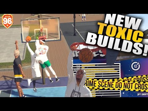 Created The Most Toxic Builds On Nba 2k19! Non-stop Contact Dunks! Nba 2k19 Park Gameplay