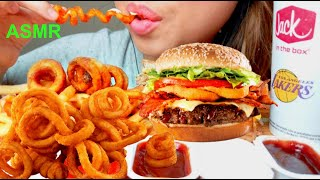 Video ASMR JACK in the BOX CHEESEBURGER Grilled Cheese & Curly Fries 먹방 *No Talking* Eating Sounds MP3, 3GP, MP4, WEBM, AVI, FLV Juli 2018
