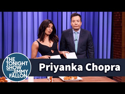 Priyanka Chopra and Jimmy Have a WingEating
