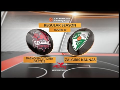 EuroLeague Highlights RS Round 30: Baskonia Vitoria Gasteiz 79-84 Zalgiris Kaunas