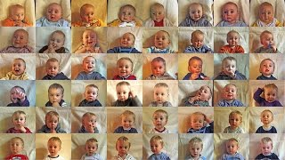 """This ultimate coming of age time lapse shows Vince transform from baby to 13 years in one minute!You are witness to one of the most mysterious, profound processes of human life - growing up - accelerated into 60 seconds.""""To use this video in a commercial player, advertising or in broadcasts, etc. Please email Frans Hofmeester: info@franshofmeester.nl"""