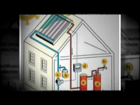 Solar Hot Water System. Home Solar heat panels. Solar Power Heaters. Hotwater Heating Collectors.