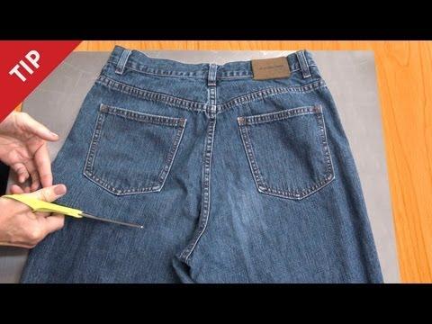 donna taglia jeans: guardate cosa crea!