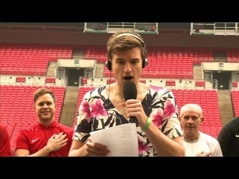 National - Greg sings the National Anthem to kick off the re-match with the Radio One-derers and Olly Murs, live from Wembley Stadium.