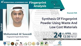 Synthesis of Fingerprint Powder Using Waste And Low Cost Materials