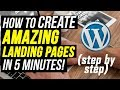Download Lagu How To Create A Landing Page In Wordpress 2019 (In 5 Minutes) | WP Profit Builder Review 2019 Mp3 Free