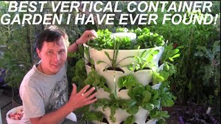 John from http://www.growingyourgreens.com/ sets up the Garden Tower Vertical Container Garden that allows you to grow 50+...