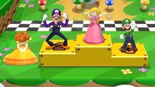 Mario Party 9 Garden Battle - Peach vs Luigi vs Daisy vs Wauigi| Cartoons Mee