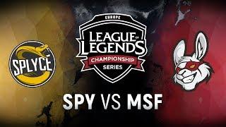Video SPY vs. MSF - Week 8 Day 1 | EU LCS Spring Split |  Splyce vs. Misfits Gaming (2018) MP3, 3GP, MP4, WEBM, AVI, FLV Juni 2018