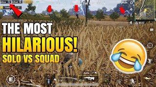 Video The MOST HILARIOUS ENDING!   Solo VS Squad   PUBG Mobile Funny Moments! MP3, 3GP, MP4, WEBM, AVI, FLV Januari 2019