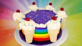 Rainbow Ice Cream Cake Recipe: How to Make a Rainbow Ice Cream Cake from Cookies Cupcakes and Cardio - YouTube