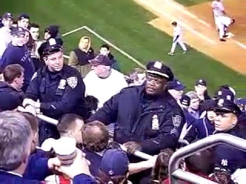 MustangFan424 - A fight between fans that was quickly broken up by the NYPD.