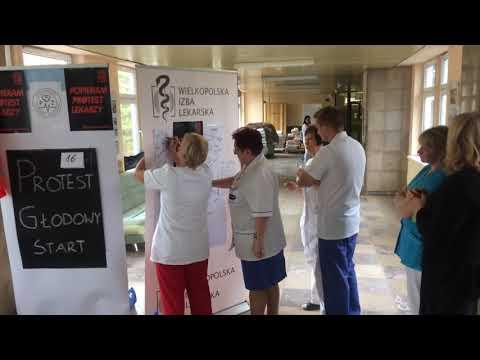 Wideo1: Pierwsza doba protestu głodowego w leszczyńskim szpitalu
